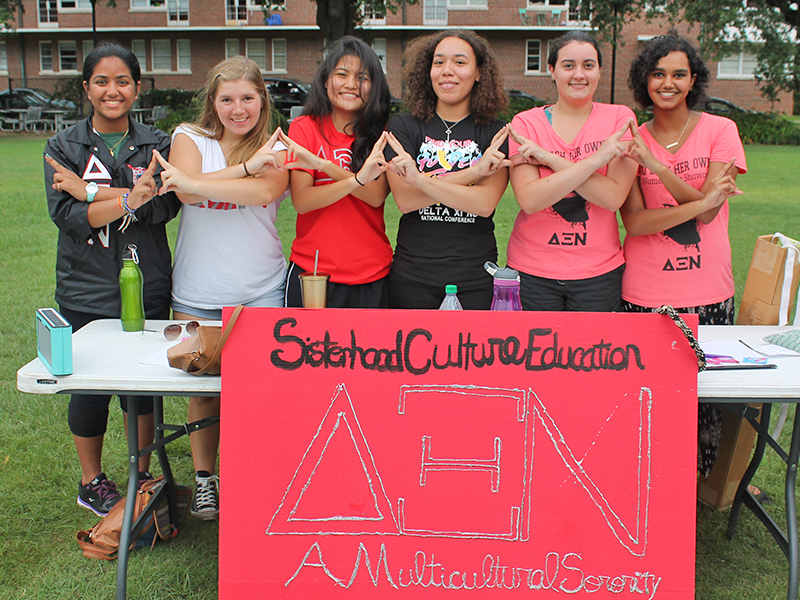 Multicultural Greek Council members